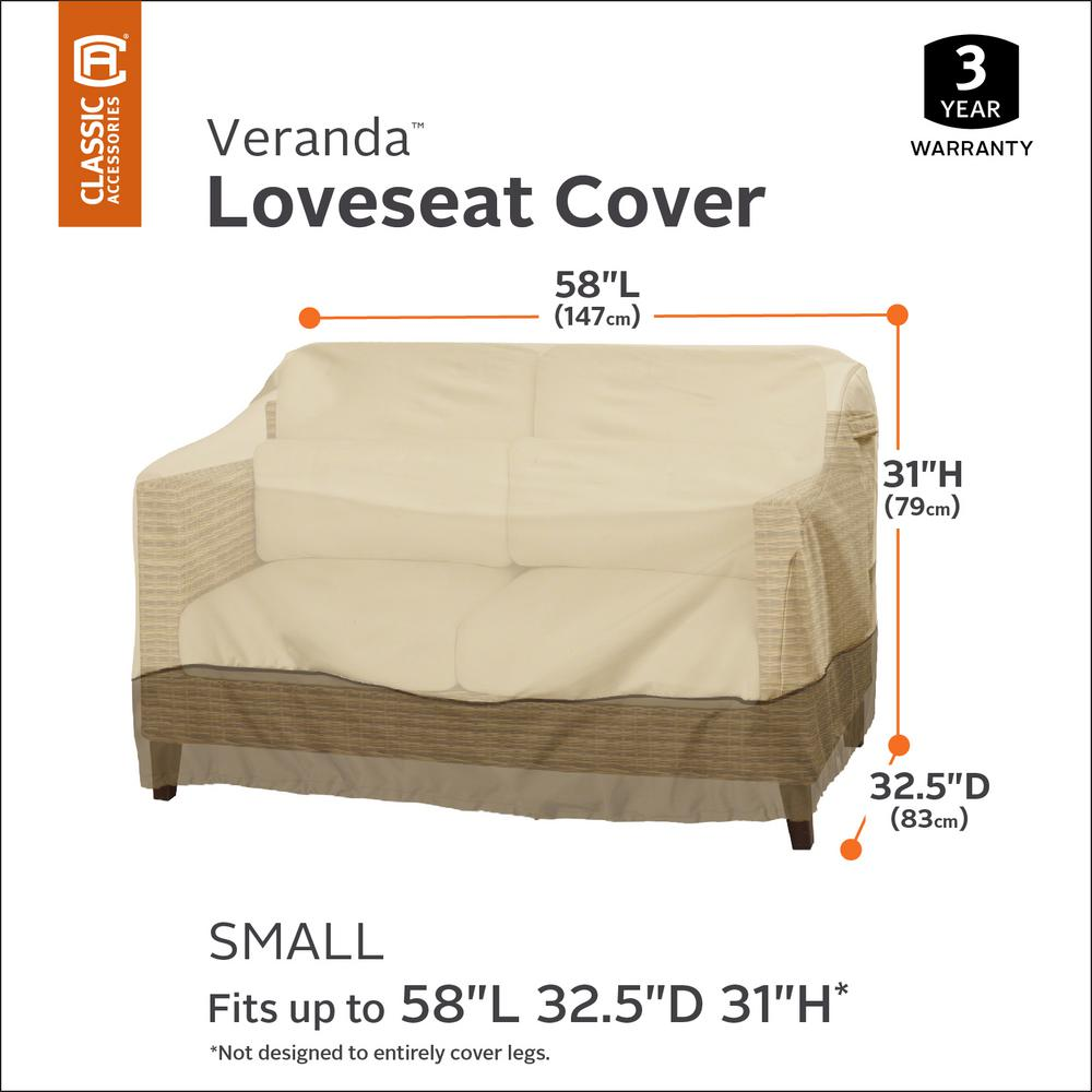 Sensational Classic Accessories Veranda 58 In Patio Loveseat Cover Ocoug Best Dining Table And Chair Ideas Images Ocougorg