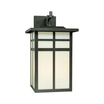 Mission 3-Light Black Outdoor Wall Mount Lantern