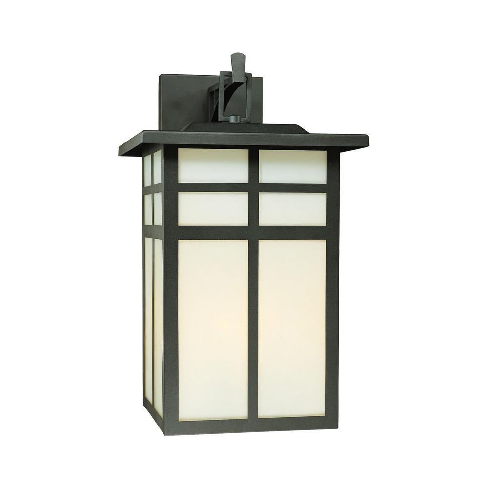 Thomas Lighting Mission 3 Light Black Outdoor Wall Lantern Sconce