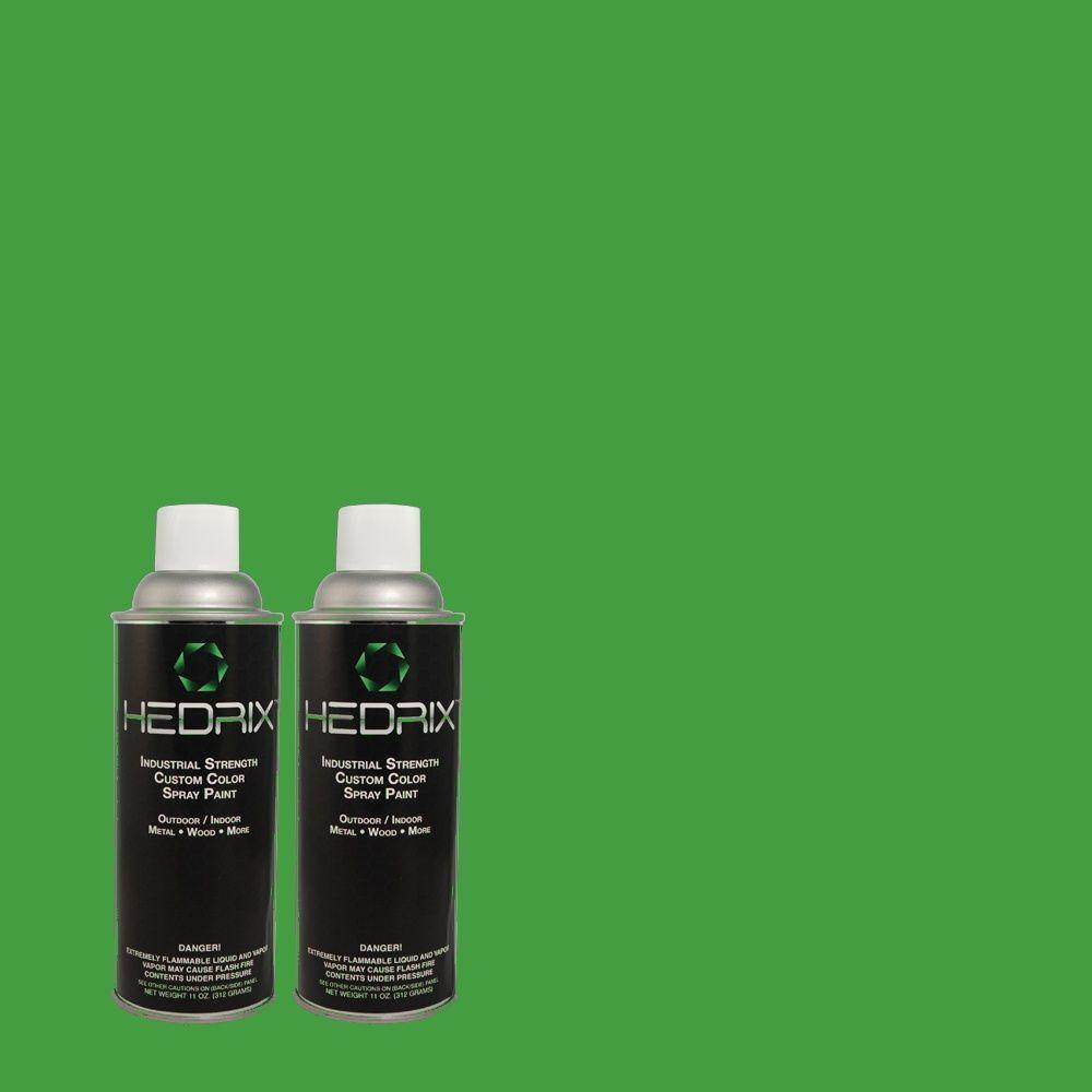 Hedrix 11 oz. Match of 450B-6 Formal Garden Low Lustre Custom Spray Paint (2-Pack)