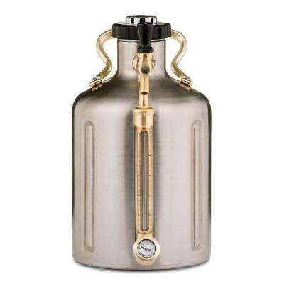 uKeg 128 oz. Stainless Steel Pressurized Growler