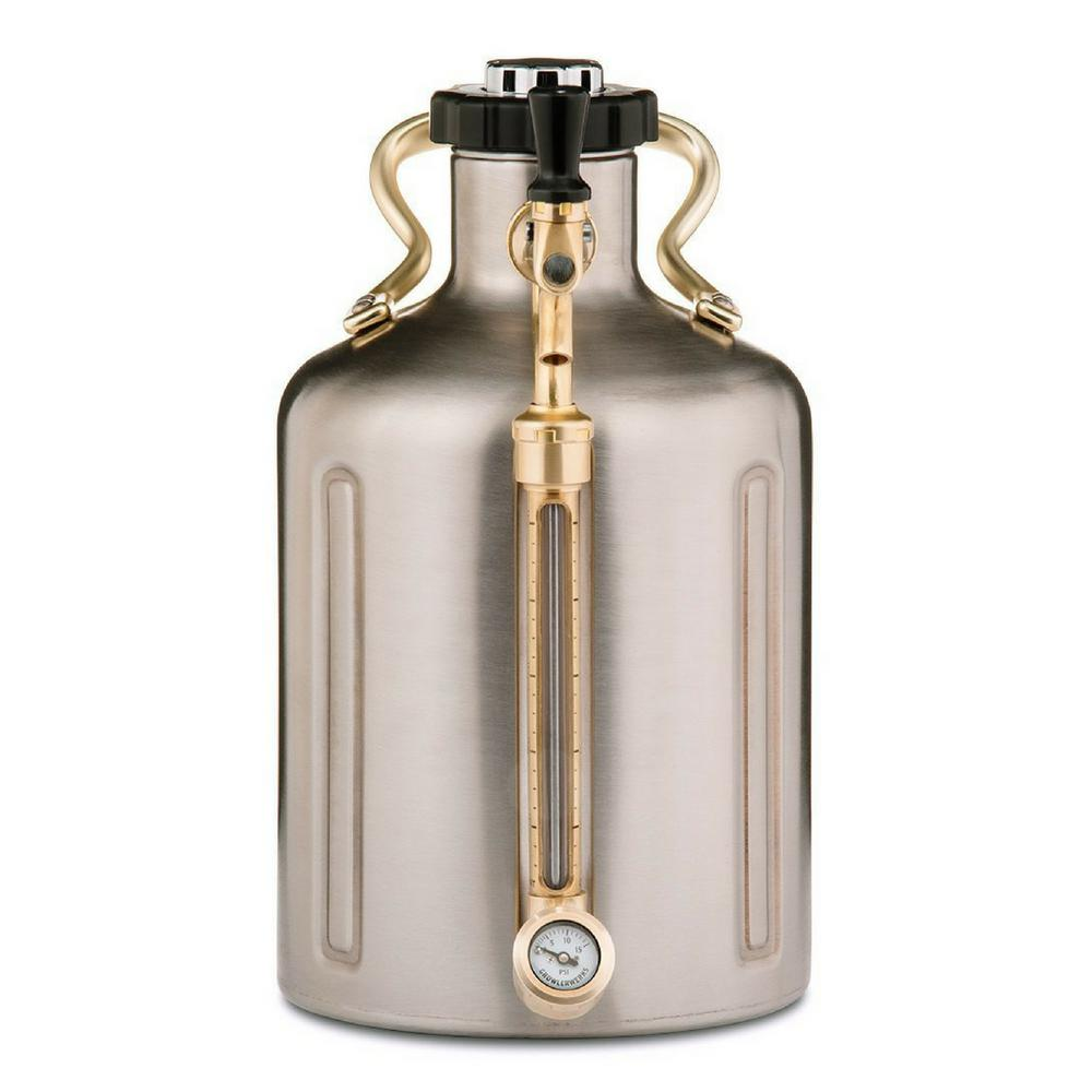 GrowlerWerks GrowlerWerks uKeg 128 oz. Stainless Steel Pressurized Growler