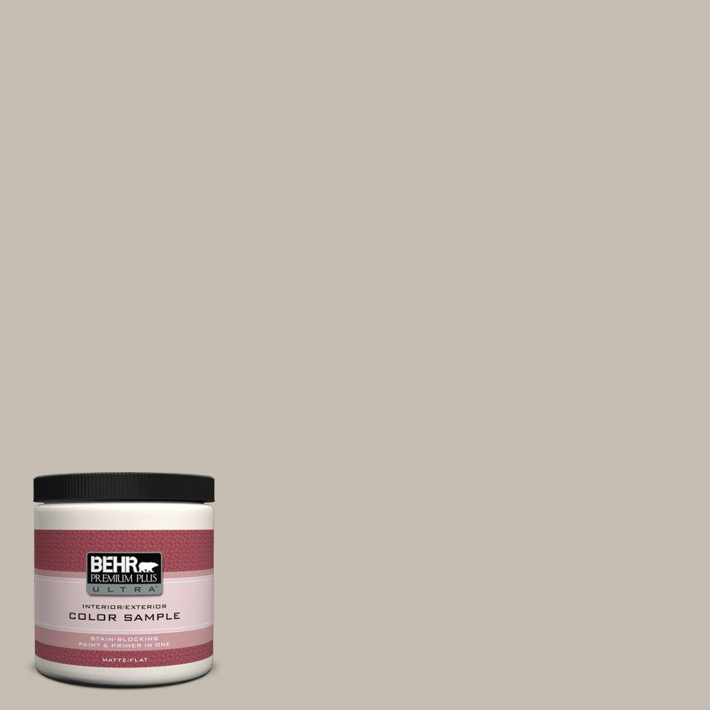 8 oz. #N320-3 Tanglewood Flat Interior/Exterior Paint and Primer in One