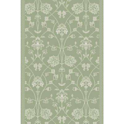 Piazza Green 6 ft. x 8 ft. Indoor/Outdoor Area Rug