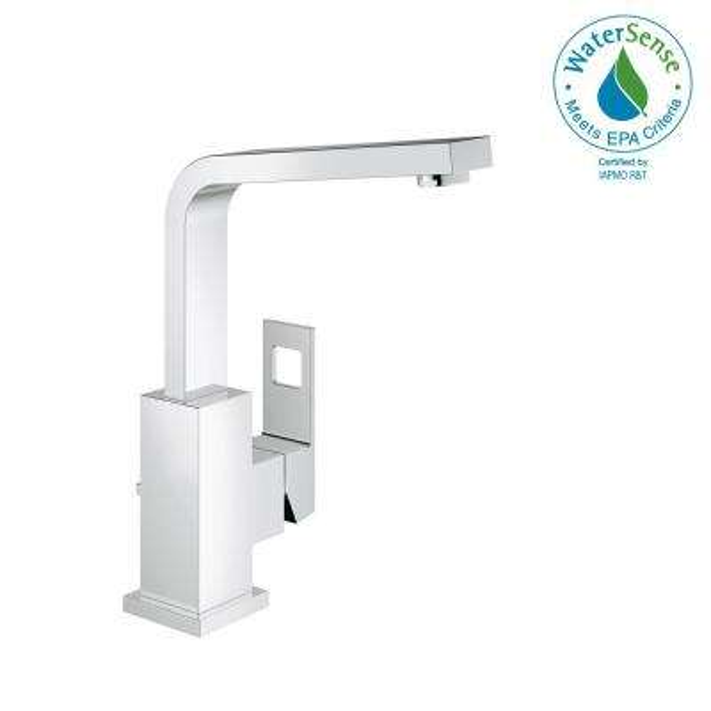 Eurocube Single Hole Single-Handle 1.2 GPM Bathroom Faucet in StarLight Chrome