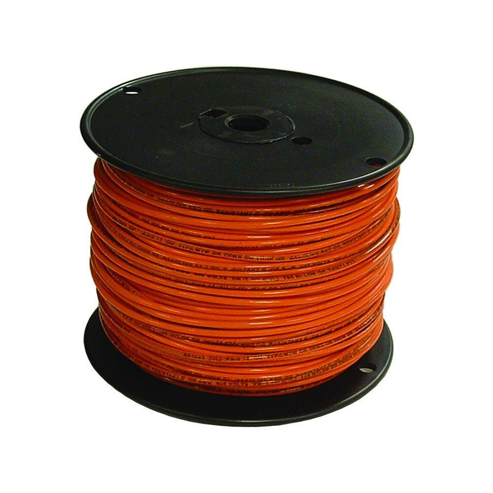 16 Orange Stranded Cu Tffn Fixture Wire