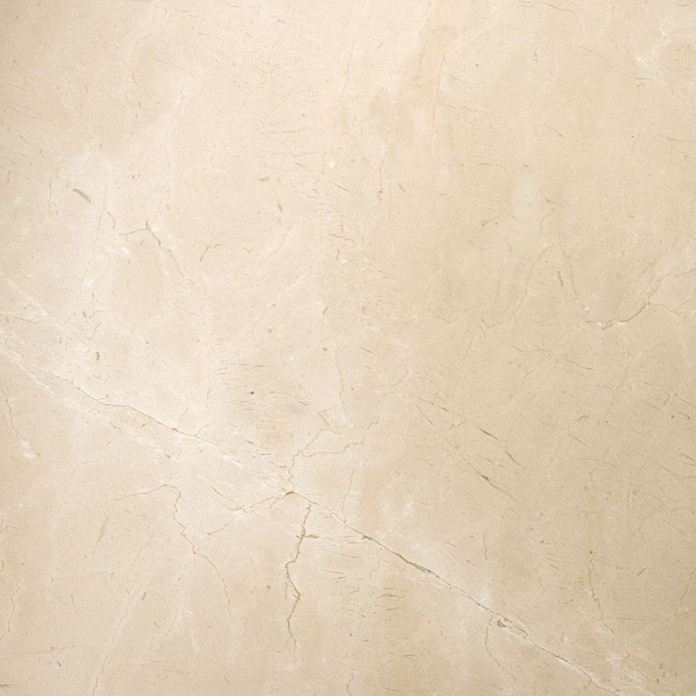 Emser Marble Crema Marfil Classico Polished 23.62 in. x 23.62 in. Marble Floor and Wall Tile