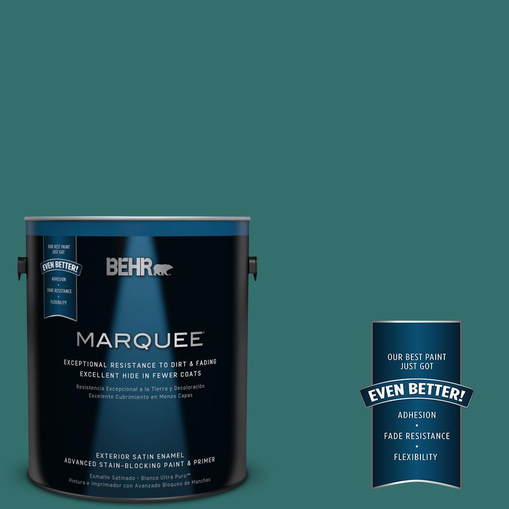 BEHR MARQUEE 1-gal. #500D-7 Caribbean Green Satin Enamel Exterior Paint