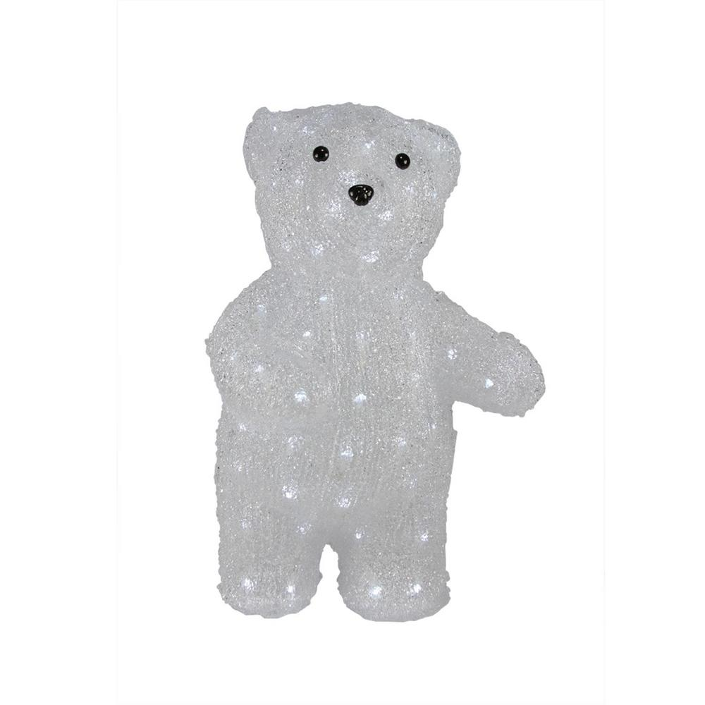 pre lit commercial grade acrylic polar bear christmas display decoration - Pre Lit Polar Bear Christmas Decoration Set Of 3