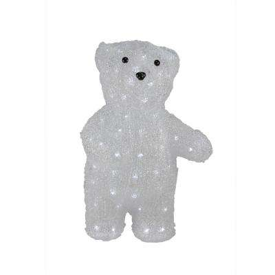 pre lit commercial grade acrylic polar bear christmas display decoration polar - Bear Christmas Decorations