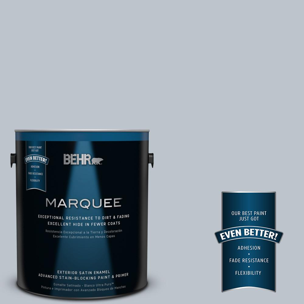 BEHR MARQUEE 1-gal. #N490-2 Icicles Satin Enamel Exterior Paint