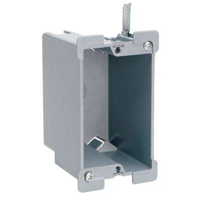 Slater Old Work Plastic 1-Gang Swing Bracket Quick/Click Switch and Outlet Box