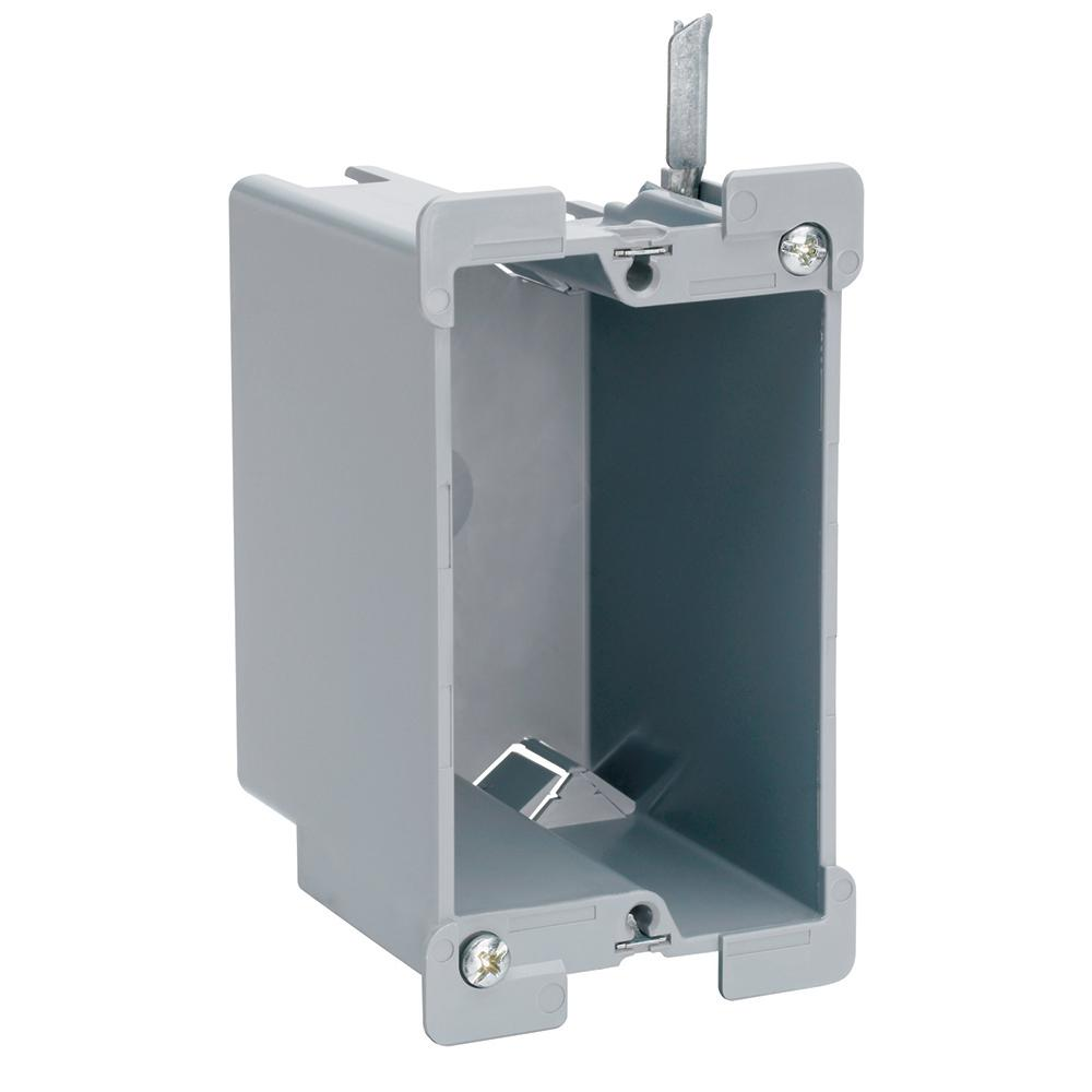 Legrand Pass Seymour Slater Old Work Plastic 1 Gang 16 Cu In Swing Bracket Box With Quick Click S116w The Home Depot