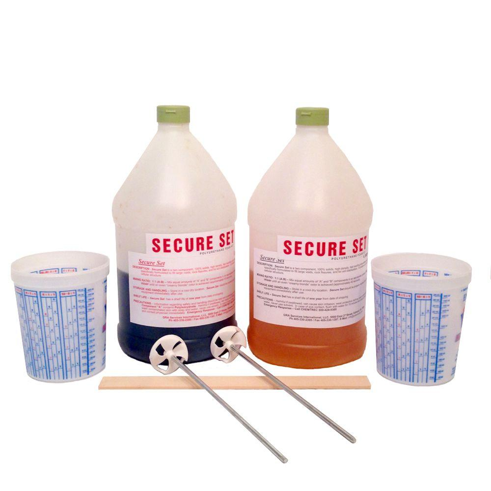 Secure Set 1 Gal. Concrete Alternative-High Density Polyurethane Post Setting Foam White 5 Post Kit