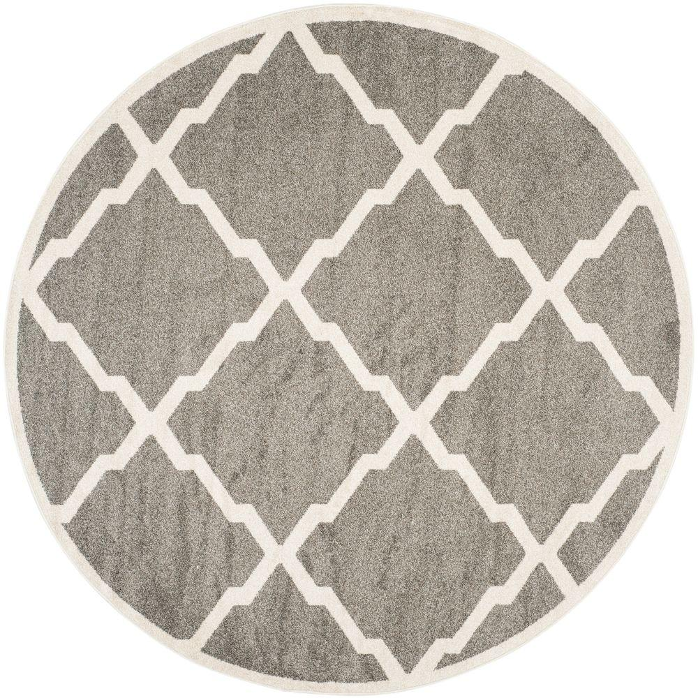 Safavieh Amherst Dark Gray Beige 5 Ft X 5 Ft Indoor