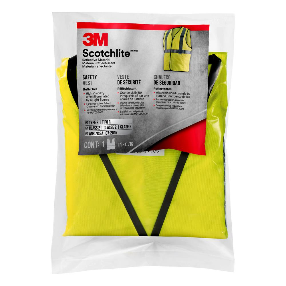 3M High-Visibility Yellow Reflective Personal Safety Vest