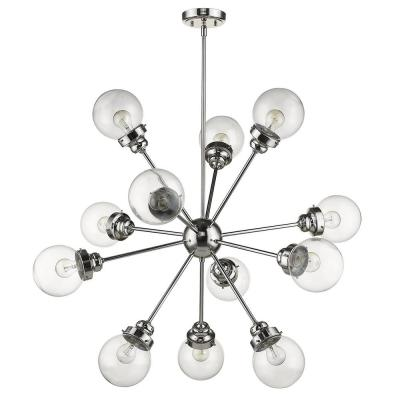 Portsmith 12-Light Polished Nickel Chandelier