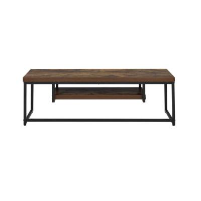 Bob 47 in. Weathered Oak and Black Wood TV Stand Fits TVs Up to 40 in.