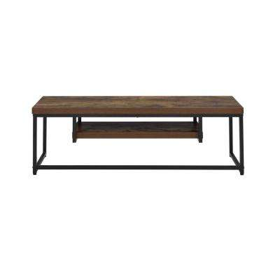Bob Weathered Oak and Black TV Stand