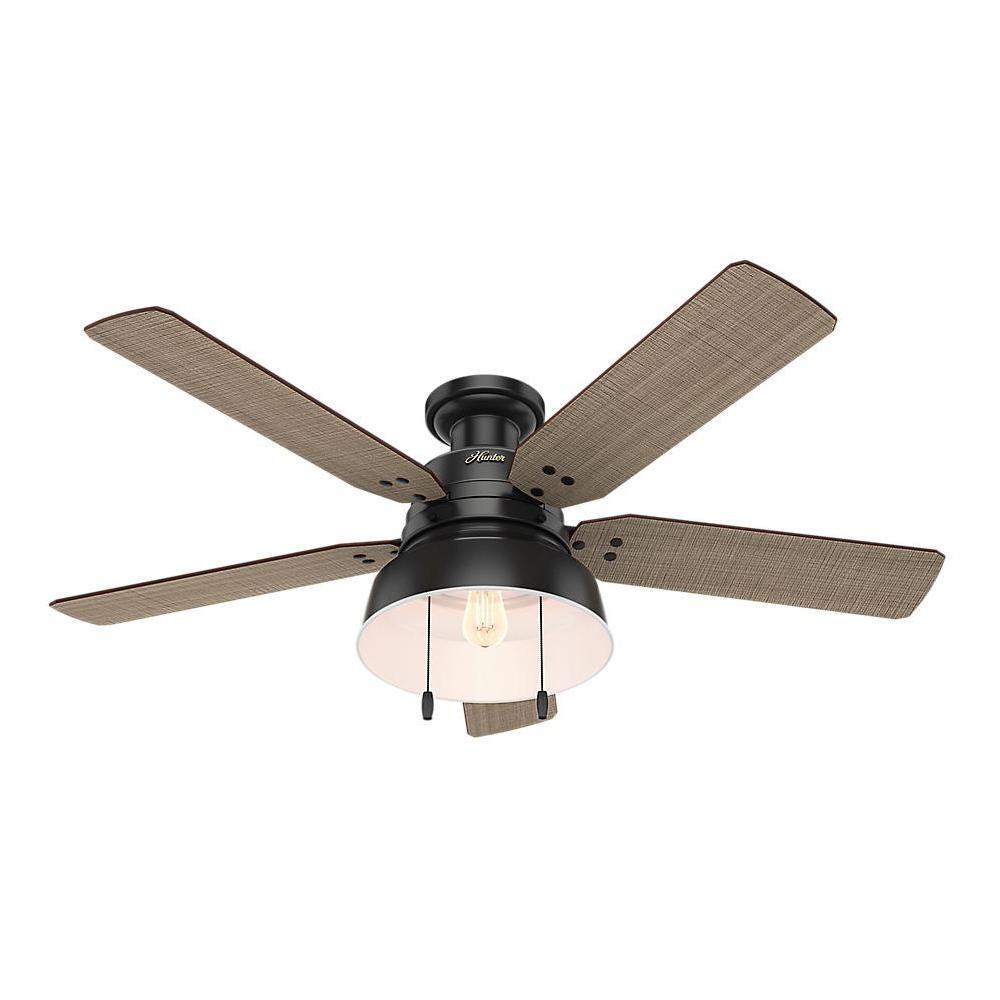 industrial flush mount ceiling fans lighting the home depot rh homedepot com