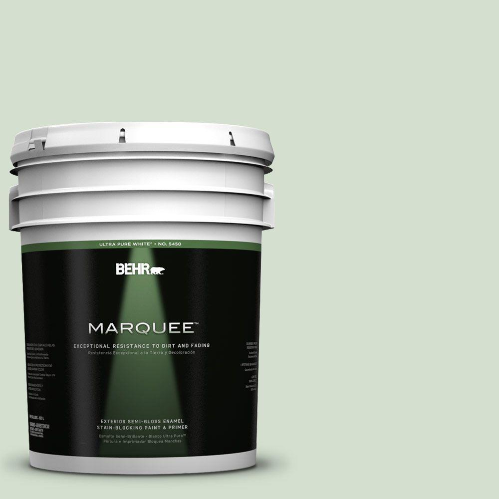 5-gal. #440E-2 Herbal Mist Semi-Gloss Enamel Exterior Paint