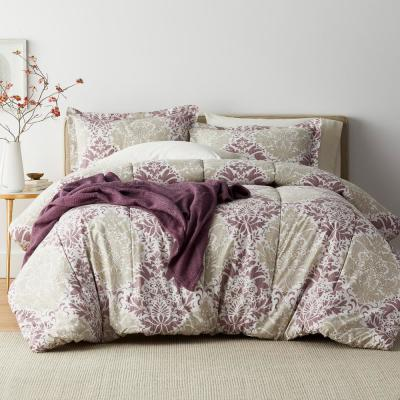Venetian Damask 200-Thread Count Cotton Percale Comforter Set