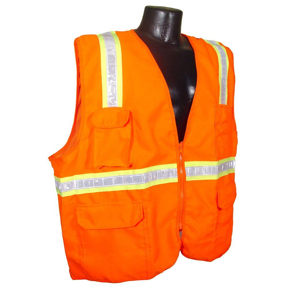 Radians NC 2-Tone Orange Dual XL Surveyor Safety Vest