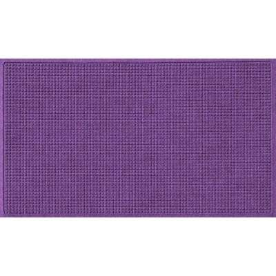 Purple 36 in. x 120 in. Squares Polypropylene Door Mat
