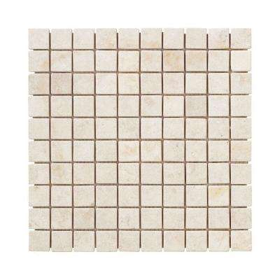 Creama 11.875 in. x 11.875 in. x 8.5 mm Marble Mosaic Floor/Wall Tile