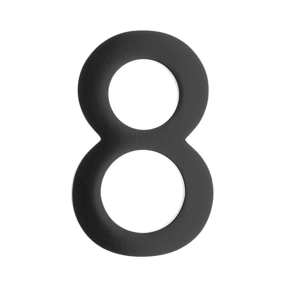 4 in. Black Floating House Number 8
