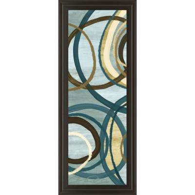 """18 in. x 42 in. """"Tuesday Blue Panel I"""" by Jeni Lee Framed Printed Wall Art"""