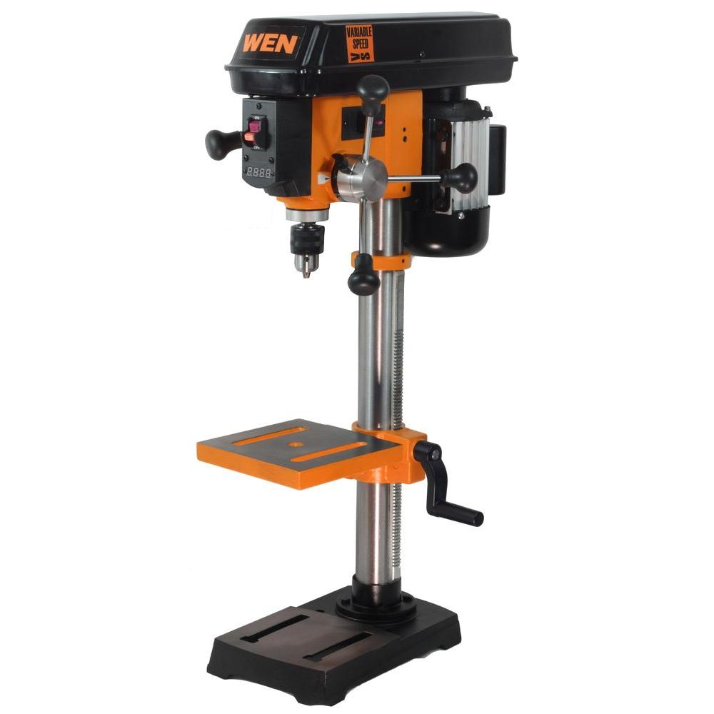Wen 10 In Variable Speed Drill Press 4212 The Home Depot