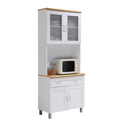 China Cabinet White with Microwave Shelf