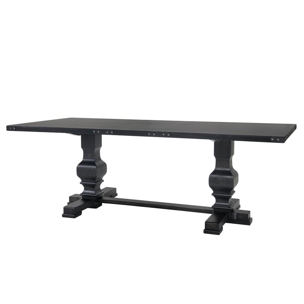 Palmer Antique Black Double Pedestal Dining Table