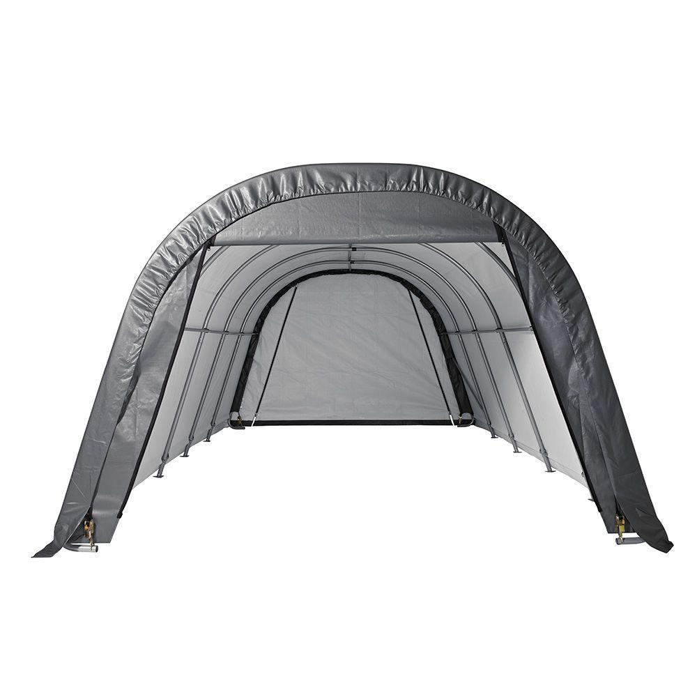 ShelterLogic RoundTop 12 ft. W x 24 ft. L x 10 ft. H Garage in Grey-74332 - The Home Depot  sc 1 st  The Home Depot & ShelterLogic RoundTop 12 ft. W x 24 ft. L x 10 ft. H Garage in ...