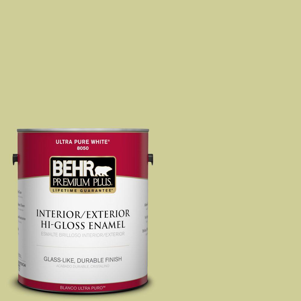 1-gal. #400D-4 Corn Husk Green Hi-Gloss Enamel Interior/Exterior Paint