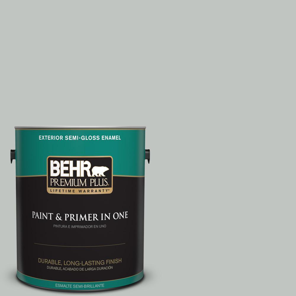 1 gal. #PPU25-14 Engagement Silver Semi-Gloss Enamel Exterior Paint