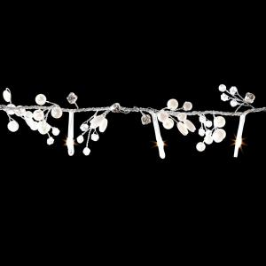 5 ft. 30-Light LED Warm White Battery Operated Micro Dot Pearl Silver Garland Light