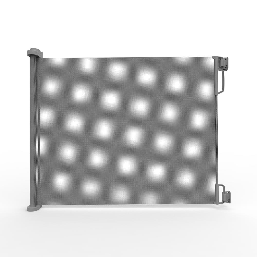 33 in  H Outdoor Retractable Gate, Extra Wide, Gray