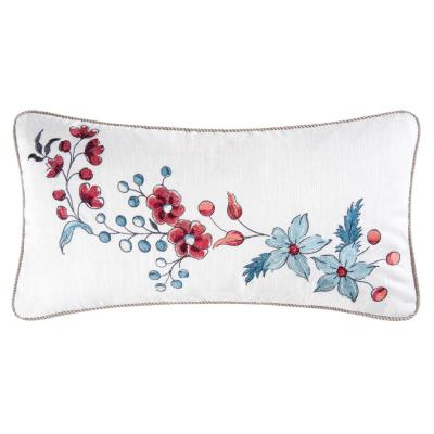 12 in. x 24 in. Adrienne Embroidered Pillow
