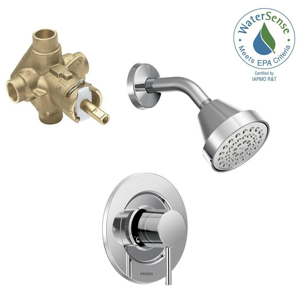 Align Single-Handle 1-Spray Shower Faucet Trim Kit with Valve in Chrome