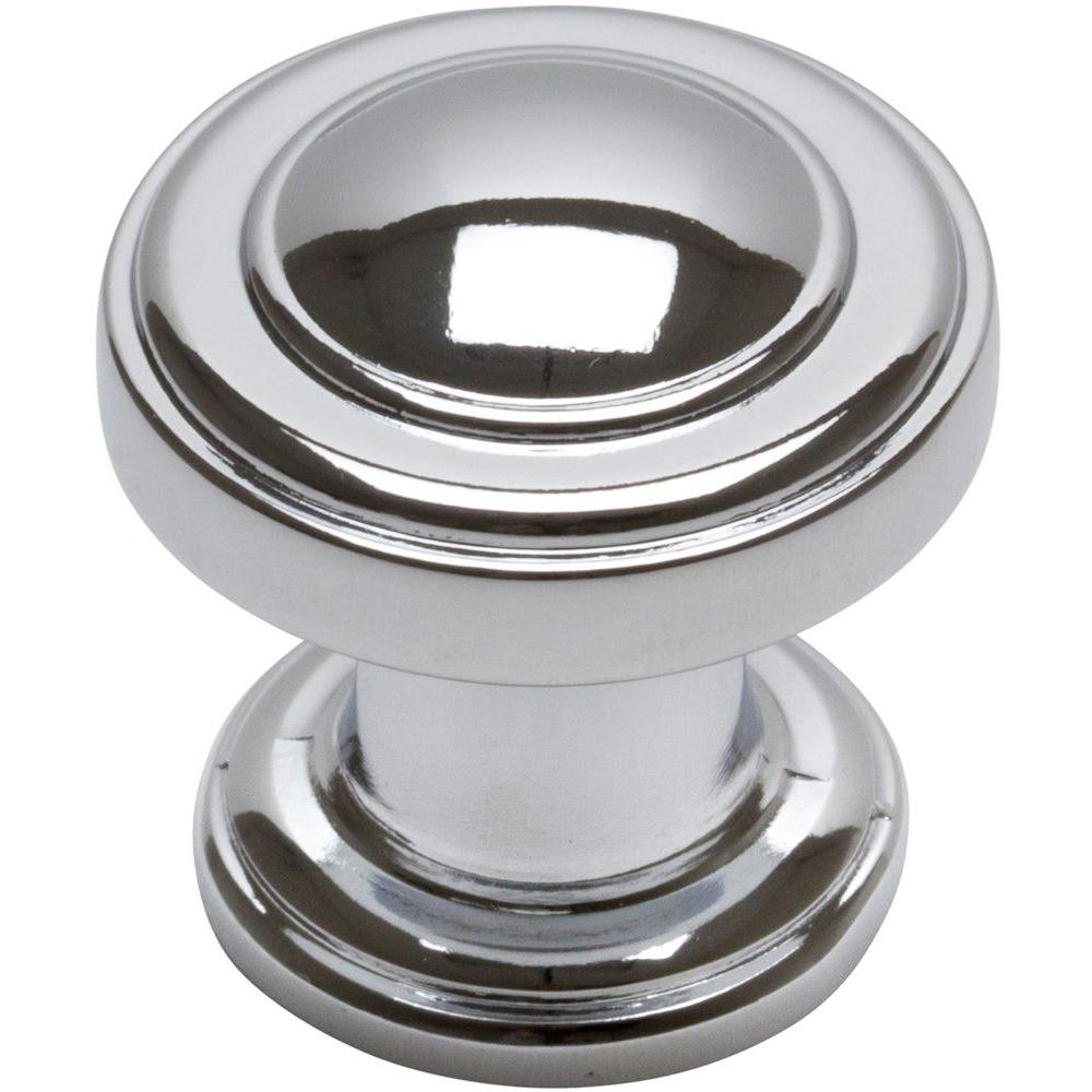 Atlas Homewares 1-1/4 in. Polished Chrome Round Cabinet Knob