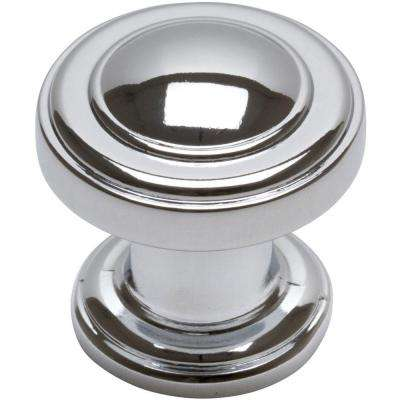 1-1/4 in. Polished Chrome Round Cabinet Knob