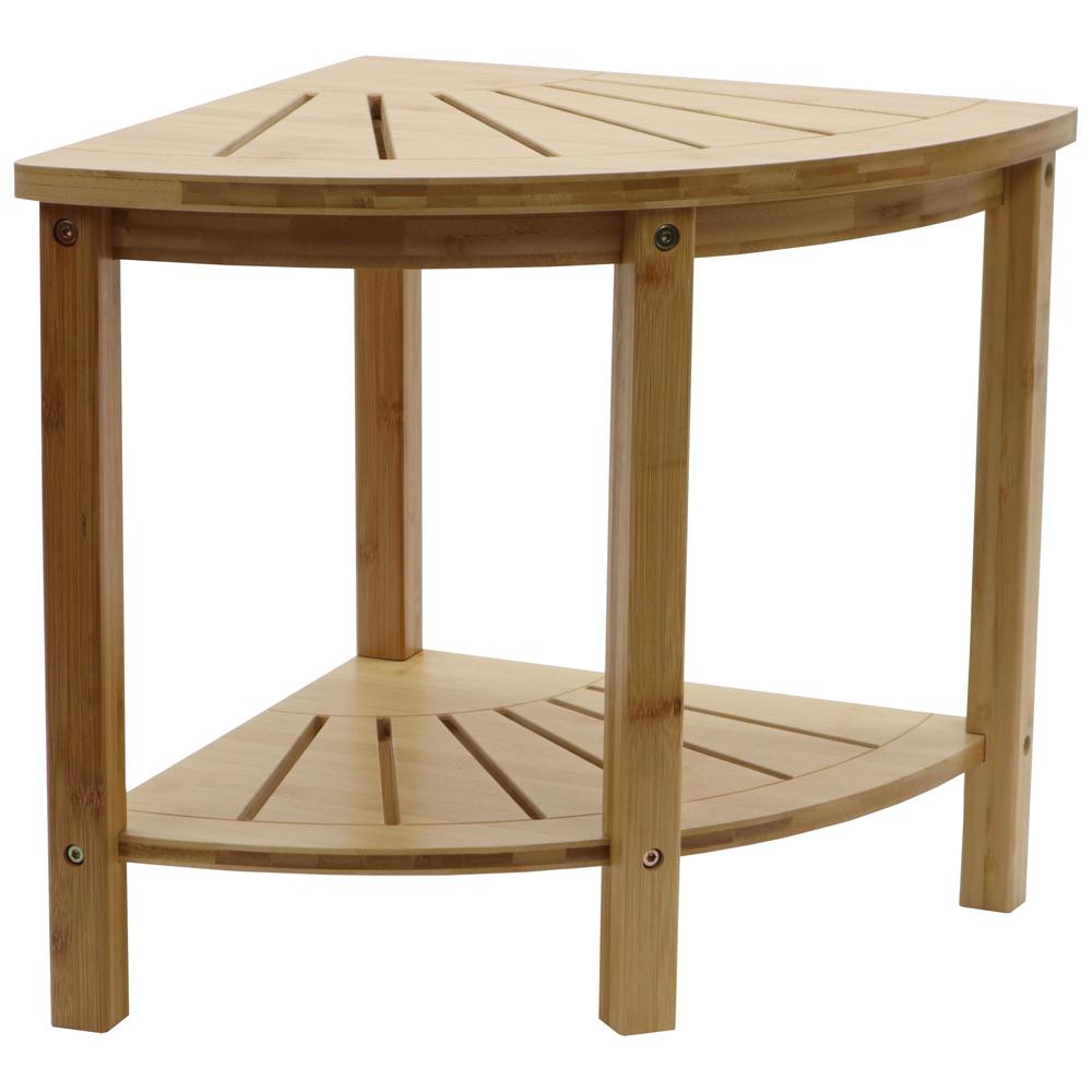 Bamboo Spa Style Corner Shower Seat