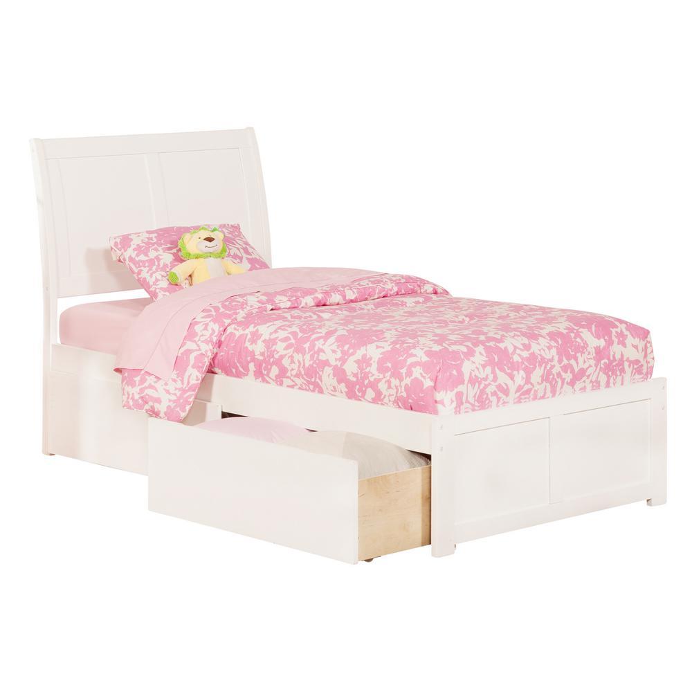 Atlantic Furniture Portland Twin Xl Platform Bed With Flat Panel