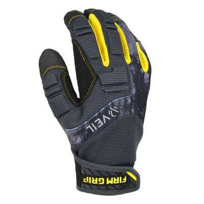 Pro Grip Large Black Synthetic Leather High Performance Glove