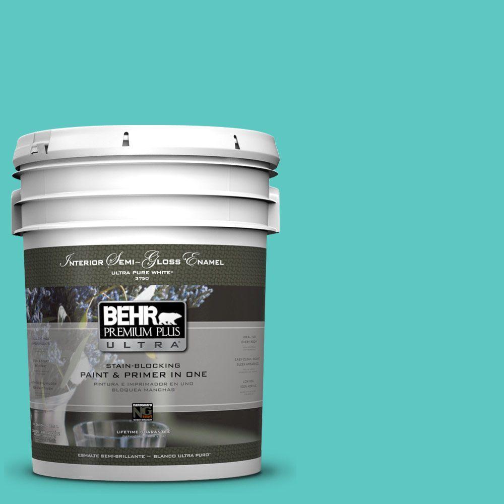 5-gal. #490B-4 Sea Life Semi-Gloss Enamel Interior Paint