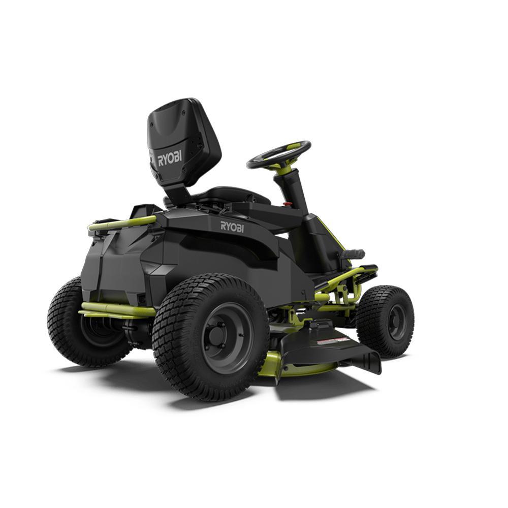 RYOBI 38 in Electric Rear Engine Riding Lawn Mower