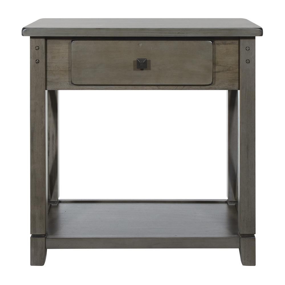 OSP Home Furnishings Hillsboro Grey Wash Foyer Table, Gray Wash OSP Home Furnishings Hillsboro Grey Wash Foyer Table, Gray Wash