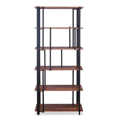 Sara Walnut and Sandy Black Bookcase